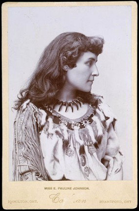 E. Pauline Johnson (Tekahionwake) (1895), wearing her performance costume.