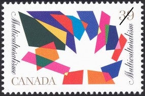 Multiculturalism stamp issued by Canada Post, 1990.