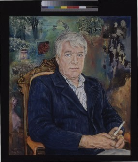 Portrait of Timothy Findley by Alan Dayton, 1991.