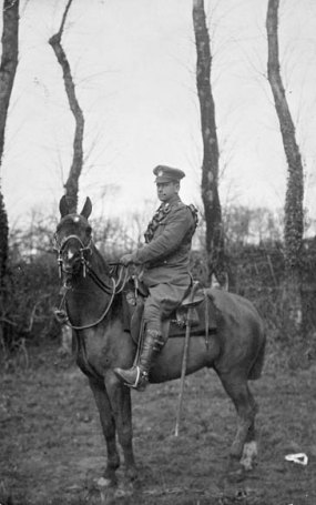 WWI trooper on horse, ~1914-1918.