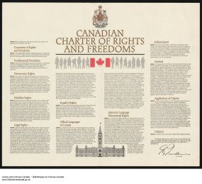 Canadian Charter of Rights and Freedoms, 17 April, 1982.