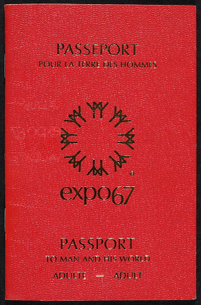 Passeport de saison, Expo '67. People at Expo could collect stamps from national pavilions in this passport.