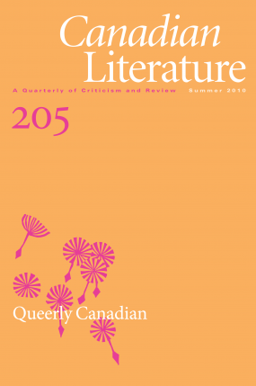 Cover of Canadian Literature issue 205, Queerly Canadian
