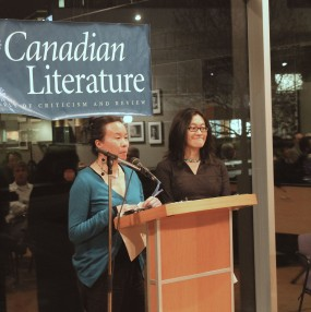Larissa Lai and Rita Wong reading at the George Woodcock Centennial, UBC, 2012.