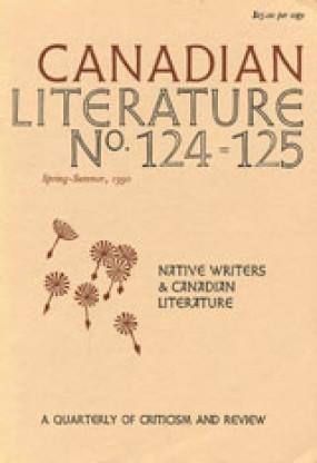 Canadian Literature 124-25 (1990).