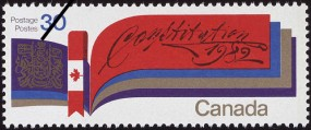 Constitution, 1982 commemorative stamp.