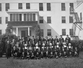 St. Anthony's Indian Residential School, Onion Lake, SK. Operated from 1891 to 1968.