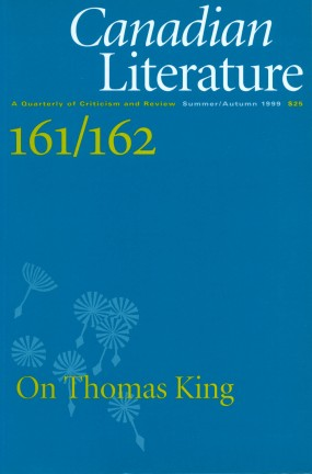 Cover of Canadian Literature 161-62 (1991).