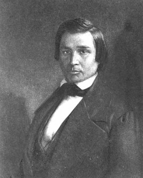 Charcoal portrait of George Copway, 1850.