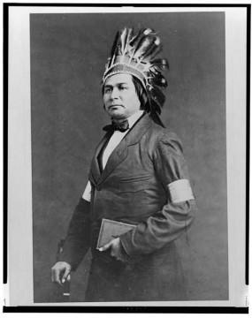 Portrait of Kah-ge-ga-gah-bowh, George Copway, ca. 1860.