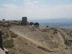 A ancient site of oral storytelling: Acropolis Theatre, Turkey. Built in the 3rd century B.C.