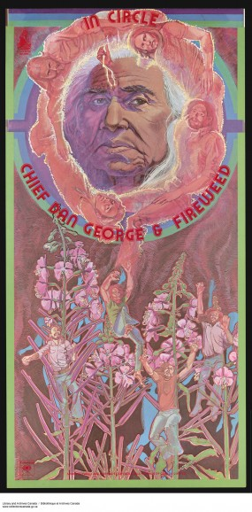 Album cover to In Circle by Chief Dan George and Fireweed (1974).