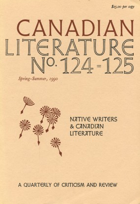 Cover of Canadian Literature issue 124—25, Native Writers & Canadian Literature