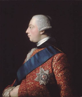 Oil portrait of King George III, ca. 1762—63