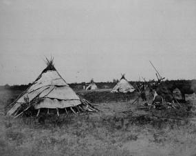 Chippewa wigwams, ca. 1872–1875