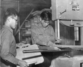 Residential school woodworking class, Kamloops, BC, 1958–59