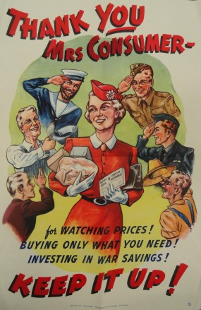 Mrs. Consumer poster, ca. 1944.