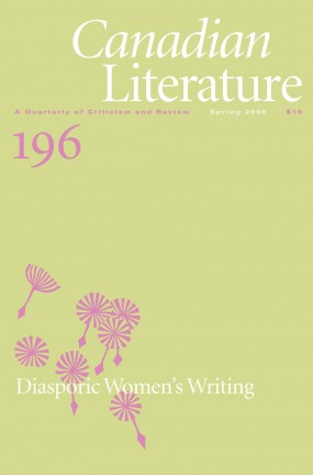 Cover of Canadian Literature #196, Diasporic Women's Writing