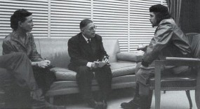 Simone de Beauvoir with Jean-Paul Sartre and Ernesto Che Guevara in Cuba, 1960
