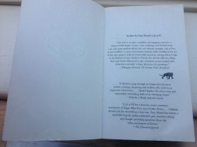 Blurbs from inside the 2011 Vintage Canada edition of Life of Pi by Yann Martel