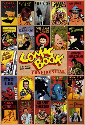 Cover art for Ron Mann's documentary Comic Book Confidential (1988)