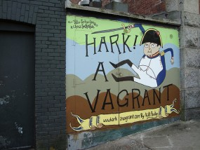 A fan tribute to Hark! A Vagrant by Kate Beaton in Halifax, Nova Scotia