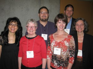 (left to right) Donna Chin, Margery Fee, Jamie Paris, Kathryn Grafton, Mike Borkent, Louise Ladouceur