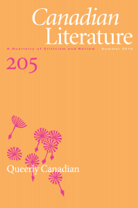 Canadian Literature 205: Queerly Canadian