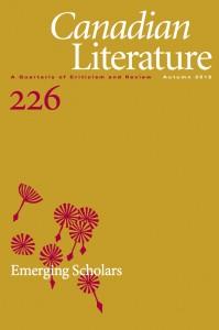 <cite>Emerging Scholars.</cite> Special issue of <cite>Canadian Literature</cite> #226