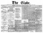 Front page of The Globe, December 2, 1845. via Wikipedia.